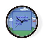 Golf Quotes Trevino Wall Clock