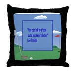 Golf Quotes Trevino Throw Pillow