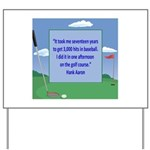 Golf Quotes Aaron Yard Sign
