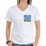Golf Quotes Aaron Women's V-Neck T-Shirt