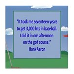 Golf Quotes Aaron Tile Coaster