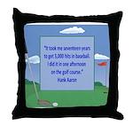 Golf Quotes Aaron Throw Pillow