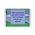 Golf Quotes Aaron Rectangle Magnet (10 pack)