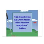 Golf Quotes Aaron Postcards (Package of 8)