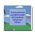 Golf Quotes Aaron Mousepad