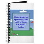 Golf Quotes Aaron Journal