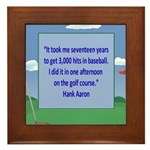 Golf Quotes Aaron Framed Tile