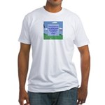 Golf Quotes Aaron Fitted T-Shirt