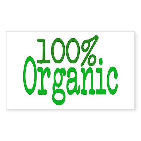100% Organic Rectangle Sticker