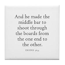 EXODUS  36:33 Tile Coaster
