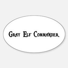 Gray Elf Commander Oval Decal