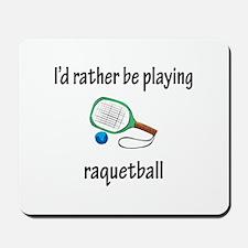 Playing Raquetball Mousepad