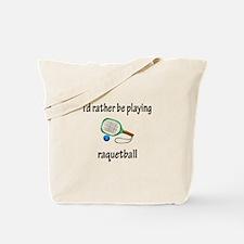 Playing Raquetball Tote Bag