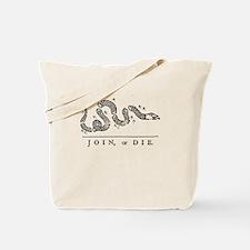 Cute Join or die Tote Bag
