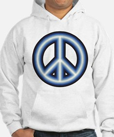 Blue Peace Symbol Jumper Hoody