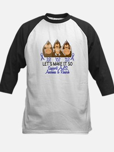 See Speak Hear No ALS 2 Kids Baseball Jersey