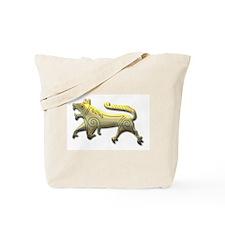 Runestone-etched gold Tote Bag