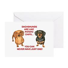 Potato Chips Greeting Card