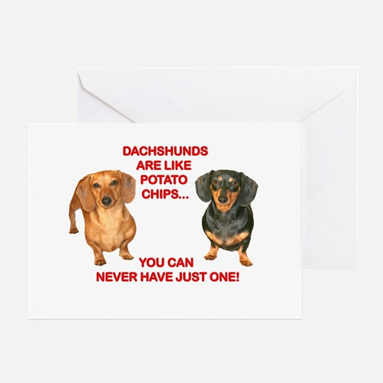 Potato Chips Greeting Card