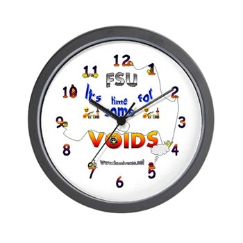 Time For Some Voids Wall Clock
