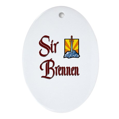 Sir Brennen Oval Ornament