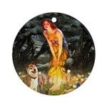 Shiba Inu in Midsummer's Eve Ornament (Round)
