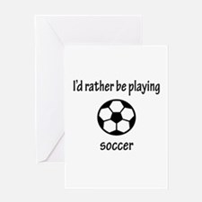 Playing Soccer Greeting Card
