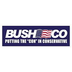 BUSHCO Bumper Bumper Sticker