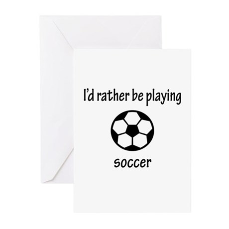 Playing Soccer Greeting Cards (Pk of 10)