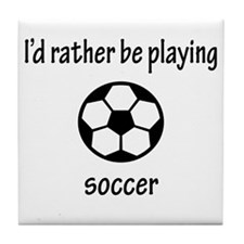 Playing Soccer Tile Coaster