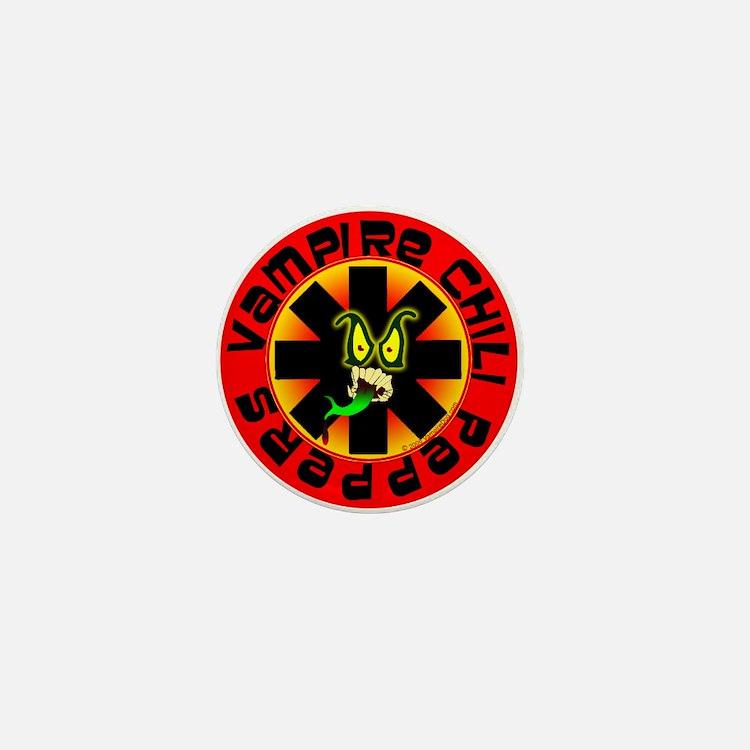 Hot Vampire Chili Pepper Mini Button