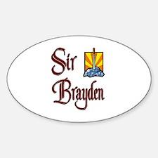Sir Brayden Oval Decal