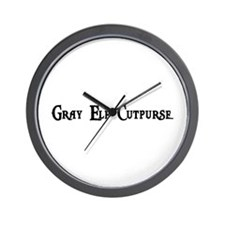 Gray Elf Cutpurse Wall Clock