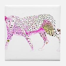 Cheetah Pink Lime Tile Coaster