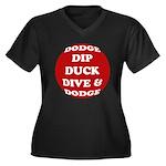 DODGE Women's Plus Size V-Neck Dark T-Shirt