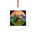 Welsh Terrier Christmas Fantasy Ornament (Round)