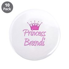 "Princess Brandi 3.5"" Button (10 pack)"