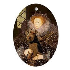 The Queen's Welsh Terrier Oval Ornament