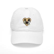 Valentine Tri-color Shelties Baseball Cap