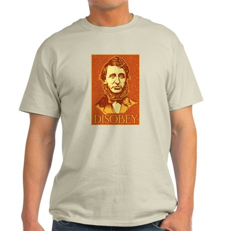"Thoreau ""Disobey"" Light T-Shirt"