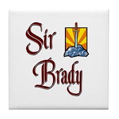 Sir Brady Tile Coaster