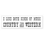 COUNTRY MUSIC Bumper Sticker (50 pk)