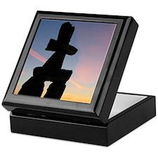Inuk Shuk at Sunset Keepsake Box