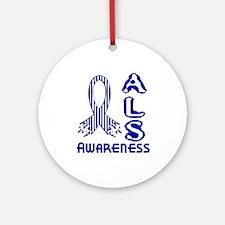 ALS Awareness Ornament (Round)