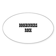 BOOKBINDERS ROCK Oval Decal