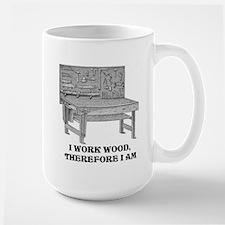 I WORK WOOD Mugs