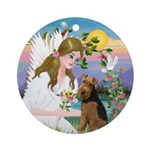 Angel and Welsh Terrier Ornament (Round)