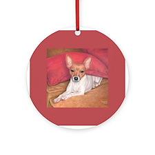 Toy Fox Terrier Ornament (Round)