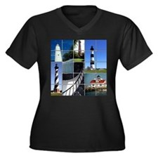 Outer Banks Lighthouses Women's Plus Size V-Neck D