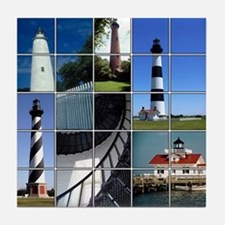 Outer Banks Lighthouses Tile Coaster